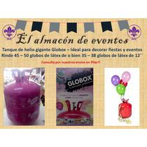 Garrafa Descartable Globox Con Helio - Pilar