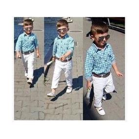 Calça Roupa Infantil Criança De Sarja C/ Lycra -veste Bem D+