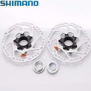 Par Disco Freio Rotor Shimano Deore Bike Mtb Sm Rt54 160mm
