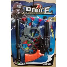 Kit Policial Algema + Cassetete + Pistola Lançador De Dardos