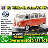 Auto Escala 1:24 Vw 1960 Bus Deluxe U.s.a Model