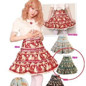 Fashion Moda Japonesa Falda Lolita Rakuten Kawaii Verde