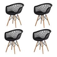 4 Cadeira Web Design Preto Artiluminacao