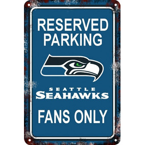Carteles De Chapa 60x40 Parking Only Reserved Seahawks Pa-81