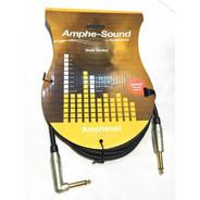 Cable Instrumentos Amphenol Gold Series Gd3034 6mts Plug Oro