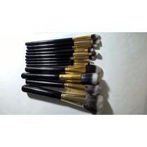 12 Pincéis De Maquiagem Kabuki Precisão Top Pronta Entrega