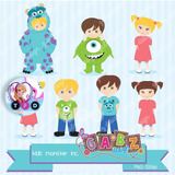 Kit Imprimible Monster Inc Pack Clipart Imagenes Boo Mike