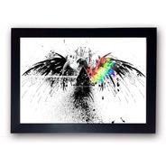Coleção Pink Floyd Quadros Decorativos Com Moldura A4