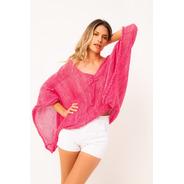 Sweater Tejido A Mano, Sweater De Algodon Y Seda