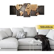 Cuadro Políptico Grande Mapa Mapamundi Planisferio Países