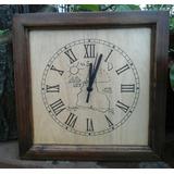 Reloj De Madera Artesanal- Regalo Empresarial O Personal