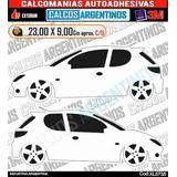 Stikers/calcomanias Vinilo De 1 Marca Peugeot 206 Xl5735
