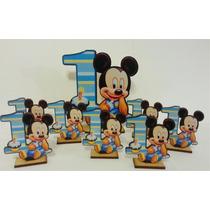 50 Unidades Mickey Bebe Primer Año Souvenirs Fibrofacil 50