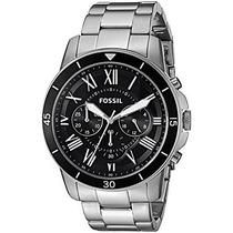 Relógio Masculino Fossil Fs5236/0pn Pulseira Aço Prata