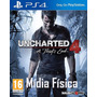 Uncharted 4 Ps4 | Mídia Física | Vendedor Top Campinas!