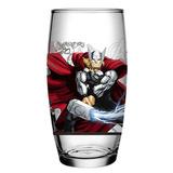 Copo Vidro Thor - Marvel Avengers - Os Vingadores 430ml
