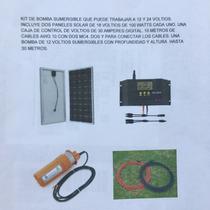 Bomba Agua Sumergible 12v Y 24v Kit 2 Panel Solar 100 Watts
