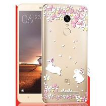 Funda Conejo Xiaomi Redmi Note 3 Se Coppel + 9h Glass Kate