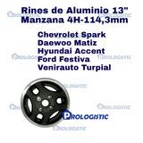 Rines 13 Aluminio Spark Matiz Festiva Turpial Accent