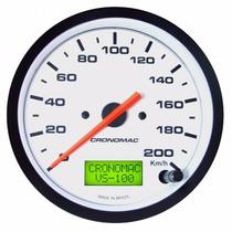 Velocímetro Cronomac Eletrônico 100mm/200km/h/ Linha Street