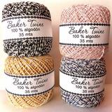 Baker Twine Hilo De Algodón Bicolor · 4 Ovillos 35 Mts C/u