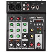 Mixer Consola 4 Canales Interfase Usb Bluetooth Efecto Phant
