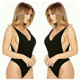 Bodys Body Bodysuit Ropa Traje Baño Moderno Mujer Dama