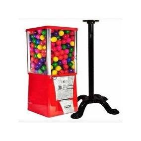 Maquina Chicles + Base Pedestal Chiclera Vending Pelotas