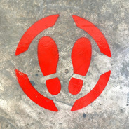 Señalamiento Sana Distancia Plantilla Stencil Para Piso