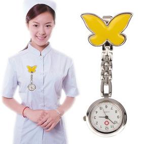 Mariposa Aleacion Enfermera Portatil Ronda Cuarzo Reloj