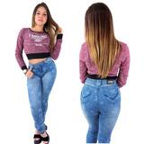 Calça Jeans Premium Clara Estrela Planet Girls