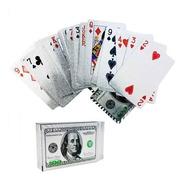 Baralho Dourado Prata  Poker Ouro Truco Cartas Jogos Dolar