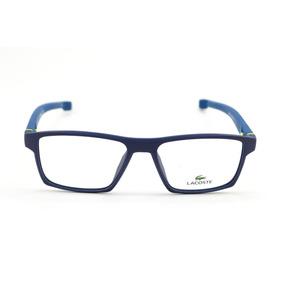 e79c46985 Armação Parafusada Masculina Lacoste - Óculos Azul no Mercado Livre ...