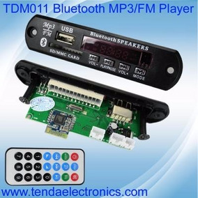 Placa P/ Amplificador - Modulo Usb Mp3 Bluetooth - Tdm011