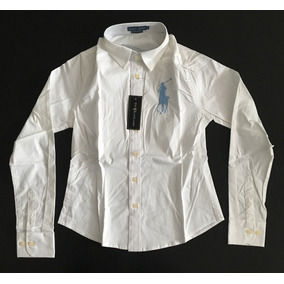 Fabulosa Camisa Blusa Dama Mujer Polo Rl Big Pony Blanca