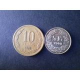 Moneda Suiza 1/2 Frank 1909 Plata (c15)