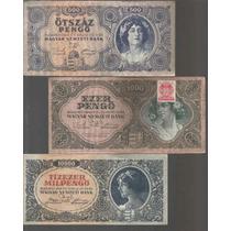 Coleccion De 3 Billetes De Hungria Con Mujeres Hermosas