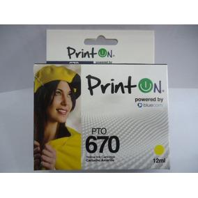 Cartuchos Serie 670 Printon Compatible Con Hp