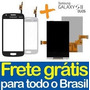 Kit Tela Touch + Display Galaxy S2 Duos S7273 Preto Branco