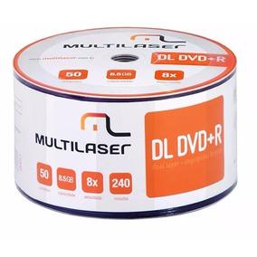 50 Dvd+r Dl Dual Layer 8.5 Gb Multilaser Umedisc Xbox Xgd3