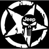 2 Calcomanías Stickers Skull Autos Jeep Star Army Estrella