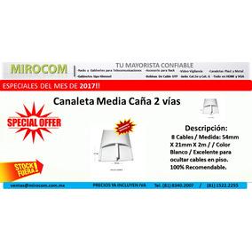 Canaleta 5421 Pvc Piso 8 Cables 54mmx21mmx2m 2 Vías Autoext