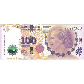 Billete Argentina $100 Evita Serie X Sin Circular Palermo