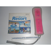 Control Wii Mote Rosa Con Wii Motion Plus Y Wii Sports Resor