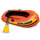 Bote Inflable Intex Explorer 200 Set 2 Personas Remos
