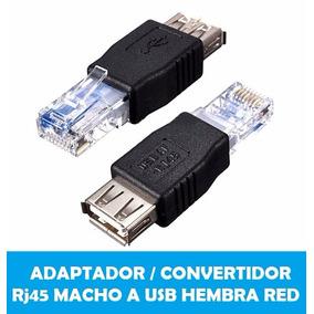 Adaptador / Convertidor Rj45 Macho A Usb Hembra Red