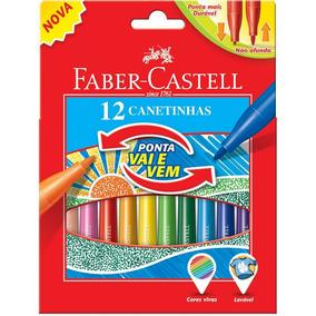Canetinhas Hidrocores 12 Cores Vai E Vem - Faber Castell