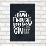 Poster Decorativo Lettering Gin N010252 30x40cm