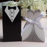 Caixinha Casamento Doce Bem Casado 02 Unidades Casal Noivos