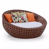 Sofa Redondo Chaise Concha De 1.50m De Fibra Sintetica